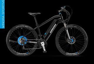 Электровелосипед WINORA SX2 29 по виду напоминает спортивную модель