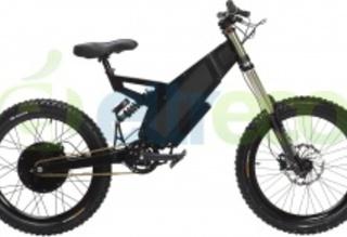 Внешне электровелосипед STEALTH FIGHTER похож на мотоцикл