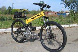 Электровелосипед с дисковыми тормозами и усиленной рамой